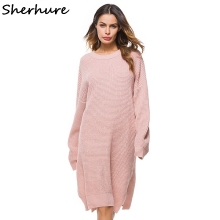 Roze Oversized Trui.Oothandel Pink Oversized Sweater Dress Gallerij Koop Goedkope Pink