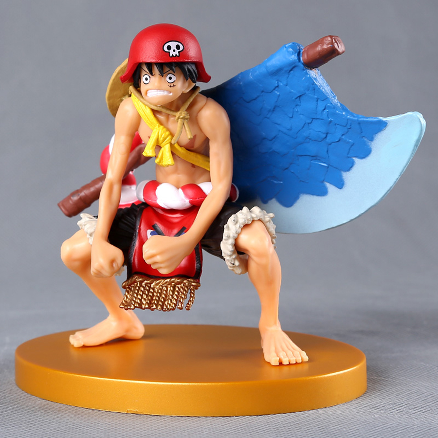 Monkey D Luffy Doll Pvc Acgn Figure Garage Kit Toy Brinquedos Anime 12cm For Sale One Piece Luffy Action Figure One Piece Film Gold Ver Action & Toy Figures