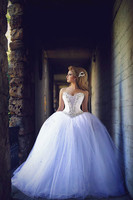 In Fashion Sweetheart Off Shoulder Lace Up Ball Gown Wedding Dress 2018 Bridal Gown Romantic Bride Dress White Dress