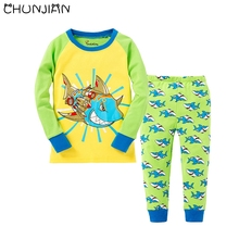 popular boys shark pajamas buy cheap boys shark pajamas lots from chunjian 2017 new kids shark pajamas boys animal design pijamas children clothing sets baby long sleeve