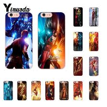 Yinuoda DC Superheroes Flash Barry Allen TV Series  Silicone Phone Case for iPhone X XS MAX 6 6s 7 7plus 8 8Plus 5 5S SE XR 10