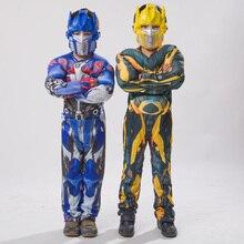 Robe fantaisie pour garçon Optimus Prime Bumblebee Muscle, déguisement classique pour livre dhalloween pour enfant
