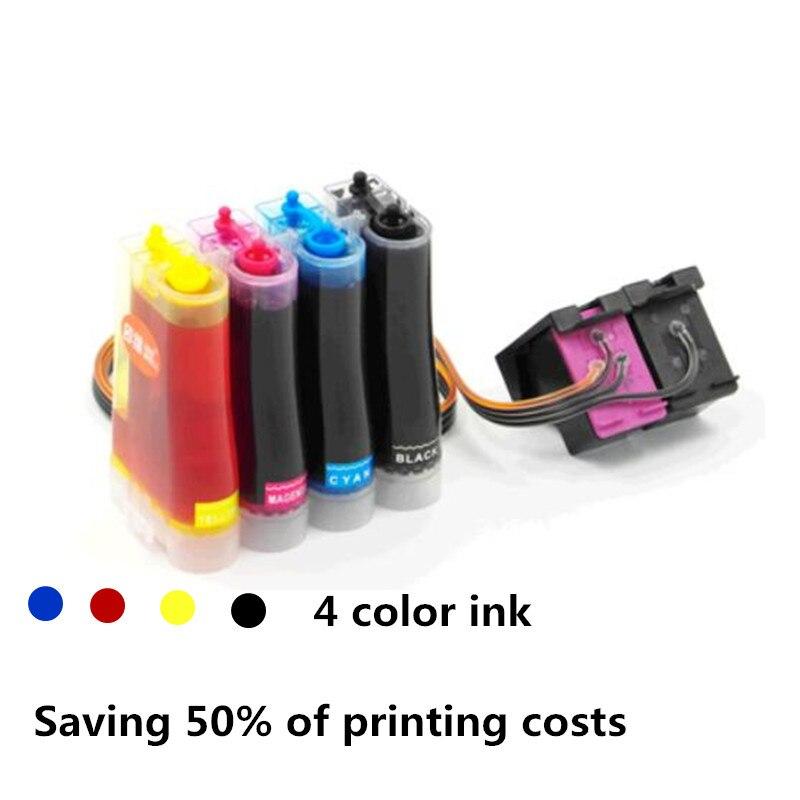 CISS completa 4 colori inchiostro di ricambio per HP 122 122XL compatibile per HP Deskjet 1000 1050 2000 2050 3000 3050A