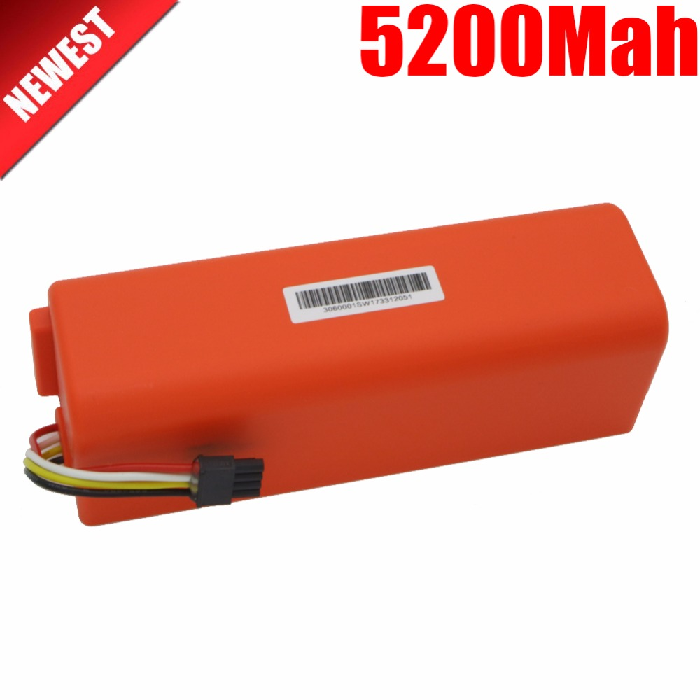 NEW 5200mAh li-ion 18650 mi robot Vacuum Cleaner accessories parts battery for xiaomi mi robot Robotics cleaner 2017 liitokala 2pcs new protected for panasonic 18650 3400mah battery ncr18650b with original new pcb 3 7v
