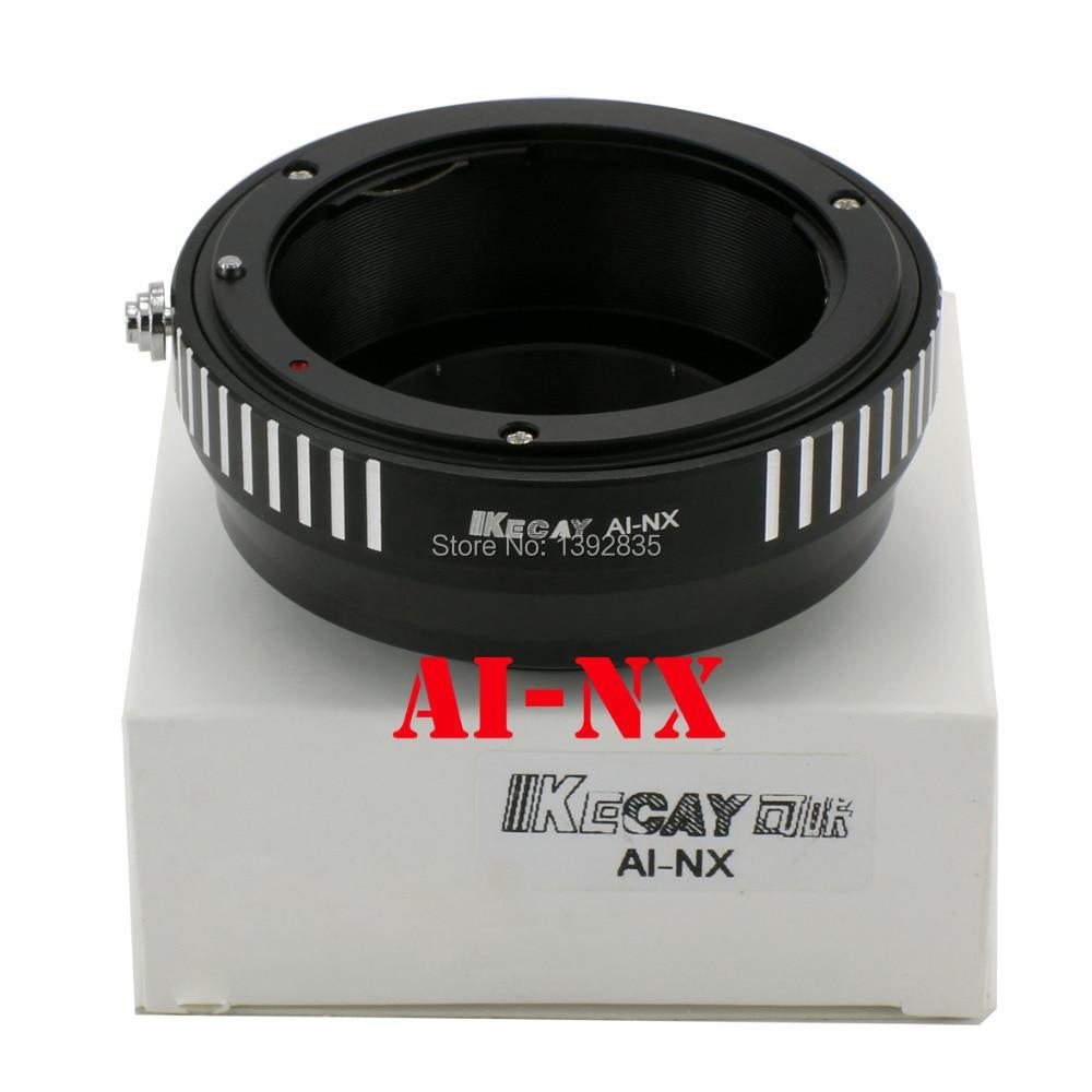 Nikon AI 렌즈 용 Kecay 고정밀 AI-NX 알루미늄 합금 Samsung NX10 / NX20 / NX200-Black + Silver 용 적응 링
