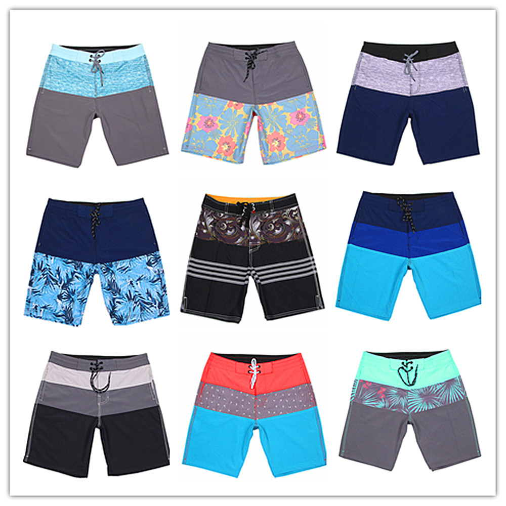 2019 Brand Phantom Elastic Men Beach   Board     Shorts   Bermuda Adults Swimwear 100% Quick Dry Mens Bathing   Shorts   Spandex Sportswear