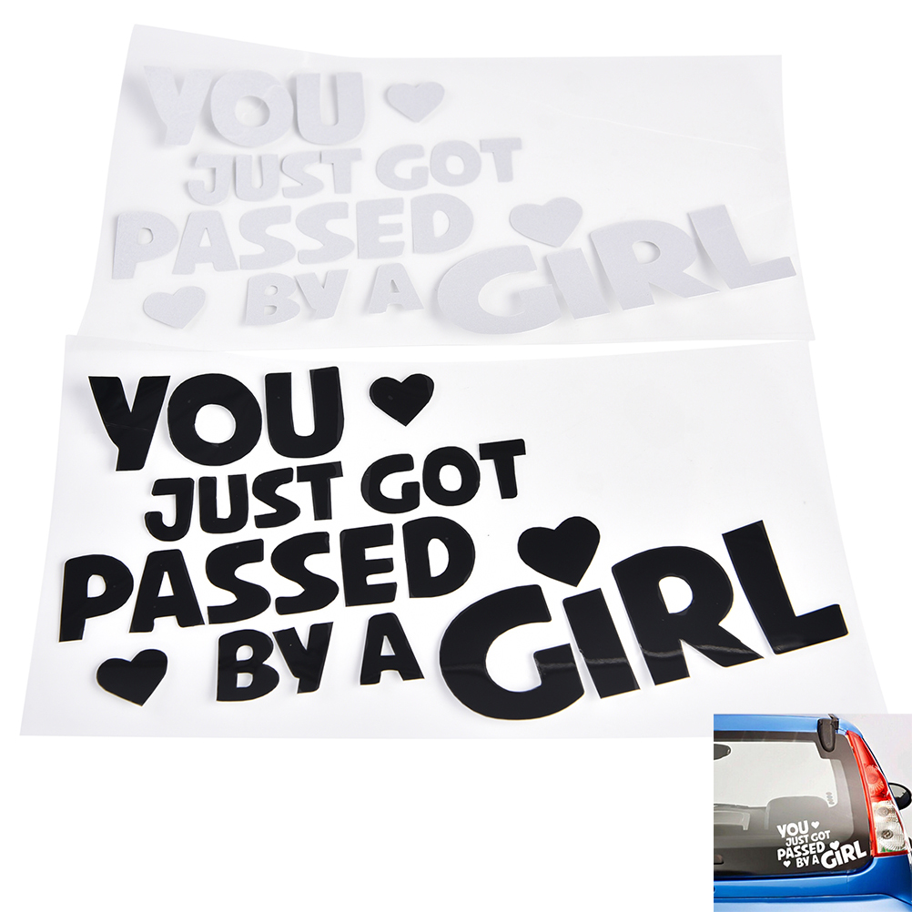 Car pass sticker design - High Quality Motorcycles Sticker Decal 1 Pc You Just Got Passed By A Girl Funny Car