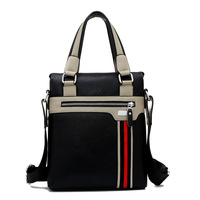 Business Men S Shoulder Bag Messenger Bag Hit Color Casual Shoulder Bags Leisure PU Men S