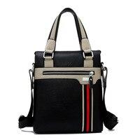 Business Men S Shoulder Bag Messenger Bag Hit Color Casual Shoulder Bags Leisure PU Men S