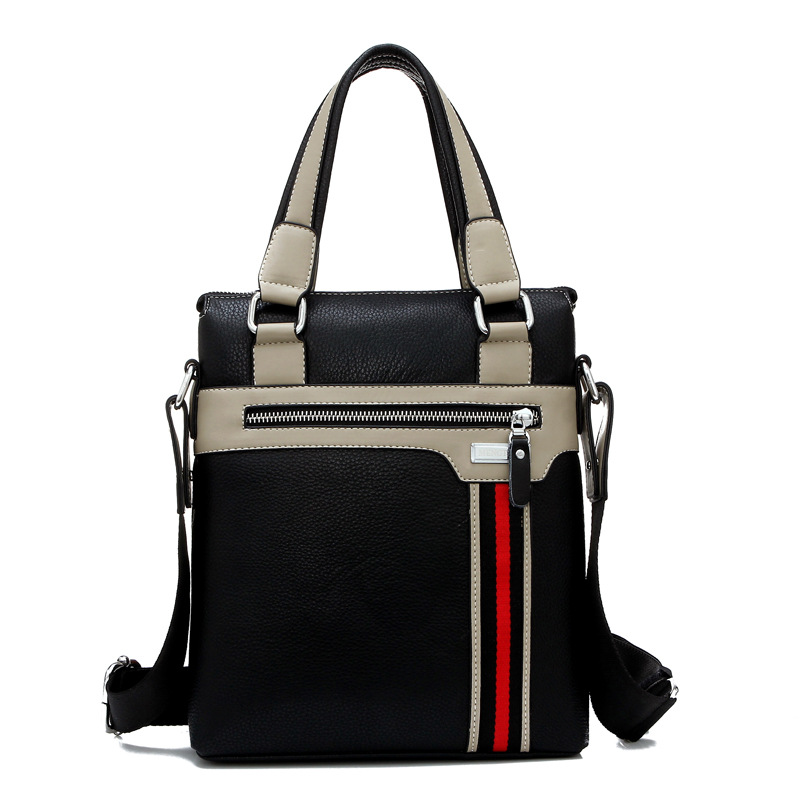 Business men s shoulder bag leisure bag backing PU men s bag wholesale