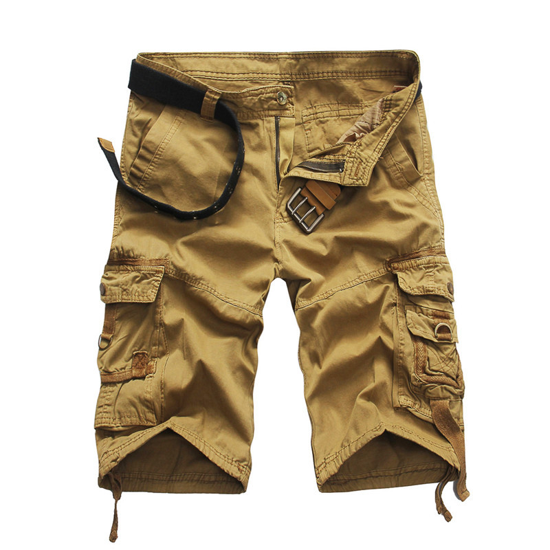 2018 Men Camouflage Multipocket Cargo Shorts Men Loose Multi-pocket Military Short Pants Summer Shorts Bermuda Cargo