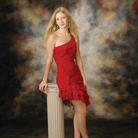 Toile de fond de photo fantastique peinte à la main 3*5 m A0056 vestido de noiva, fond de mousseline, photographie d'accessoires de studio