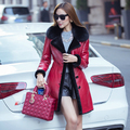 Leather suede real fur coats winter sheep shearing fur coat sheepskin one piece fur lined genuine leather jacket woman suede