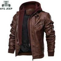 2019 jaqueta de couro dos homens casual motocicleta removível capa do plutônio jaquetas de couro masculino zíper oblíquo tamanho europeu jaqueta couro