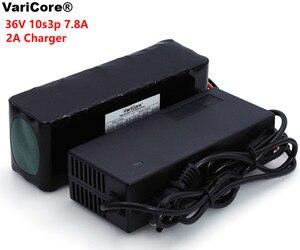 Image 1 - VariCore 36V 7.8Ah 10S3P 18650 pack de batería recargable, bicicletas modificadas, vehículo eléctrico 36V Protección PCB + 2A cargador