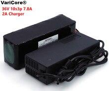 Varicore 36v 7.8Ah 10S3P 18650充電式バッテリーパック、修正された自転車、電気自動車36v保護pcb + 2A充電器