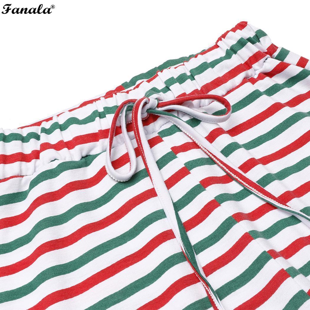 Christmas Long Sleeve O-Neck Top with Pants New Unisex Sleepwear Nightwear Pyjamas Set