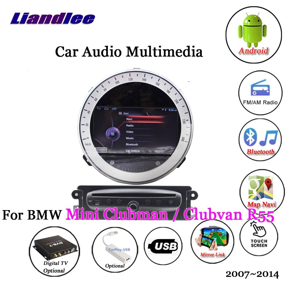 Liandlee For BMW Mini Clubman / Clubvan R55 2007~2014 Android Radio Stereo Carplay Camera TV GPS Map Navi Navigation Multimedia