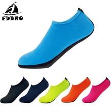 FDBRO для плавания водонепроницаемая обувь дайвинг носки для подводного плавания для рыбалки на плоской подошве мягкая прогулочная обувь с плоской подошвой, уличные пляжные летние кроссовки для взрослых унисекс