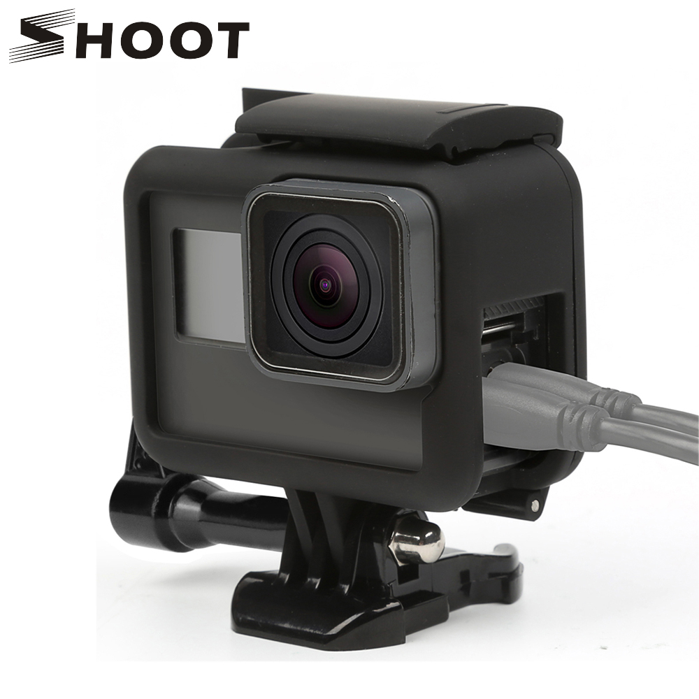 Protect Case Housing Camera Frame Side Back Open for Go Pro Hero 6//5 Black