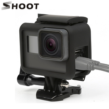 цена на SHOOT Side Open Protective Border frame Case for GoPro HERO 7 6 5 Black Sports Cam For Go Pro Hero 7 6 5 Action Camera Accessory