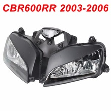 цена на For 03-06 Honda CBR600R CBR 600RR Motorcycle Front Headlight Head Light Lamp Headlamp CLEAR 2003 2004 2005 2006