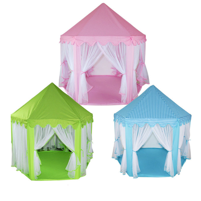 [Funny] Very beautiful Indoor outdoor princess castle House tent foldable child girl park picnic holiday game play tent gift toy ...