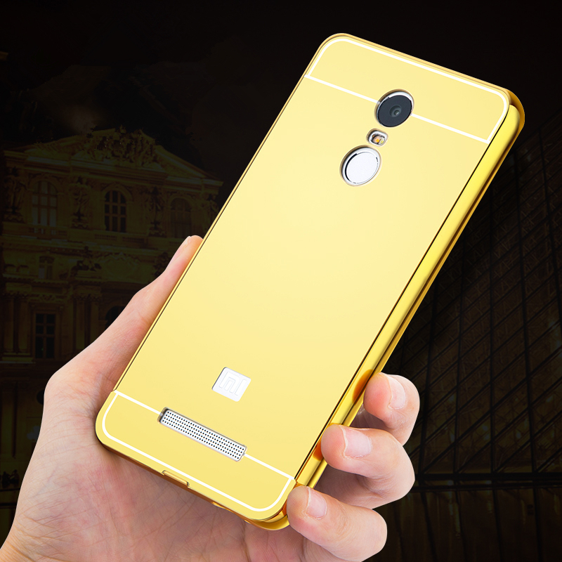 Luxury Ultra Slim Mirror Aluminum Case Acrylic PC Back Cover For Xiaomi Redmi Pro 3 Note 2 3 4 Note2 Note3 Note4 Plating Surface