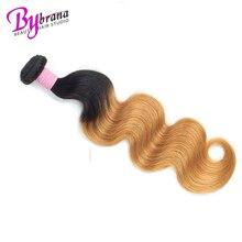 1B 27 30 Бургундский бразильский объемная волна Remy Плетение человеческих волос в виде пучков One