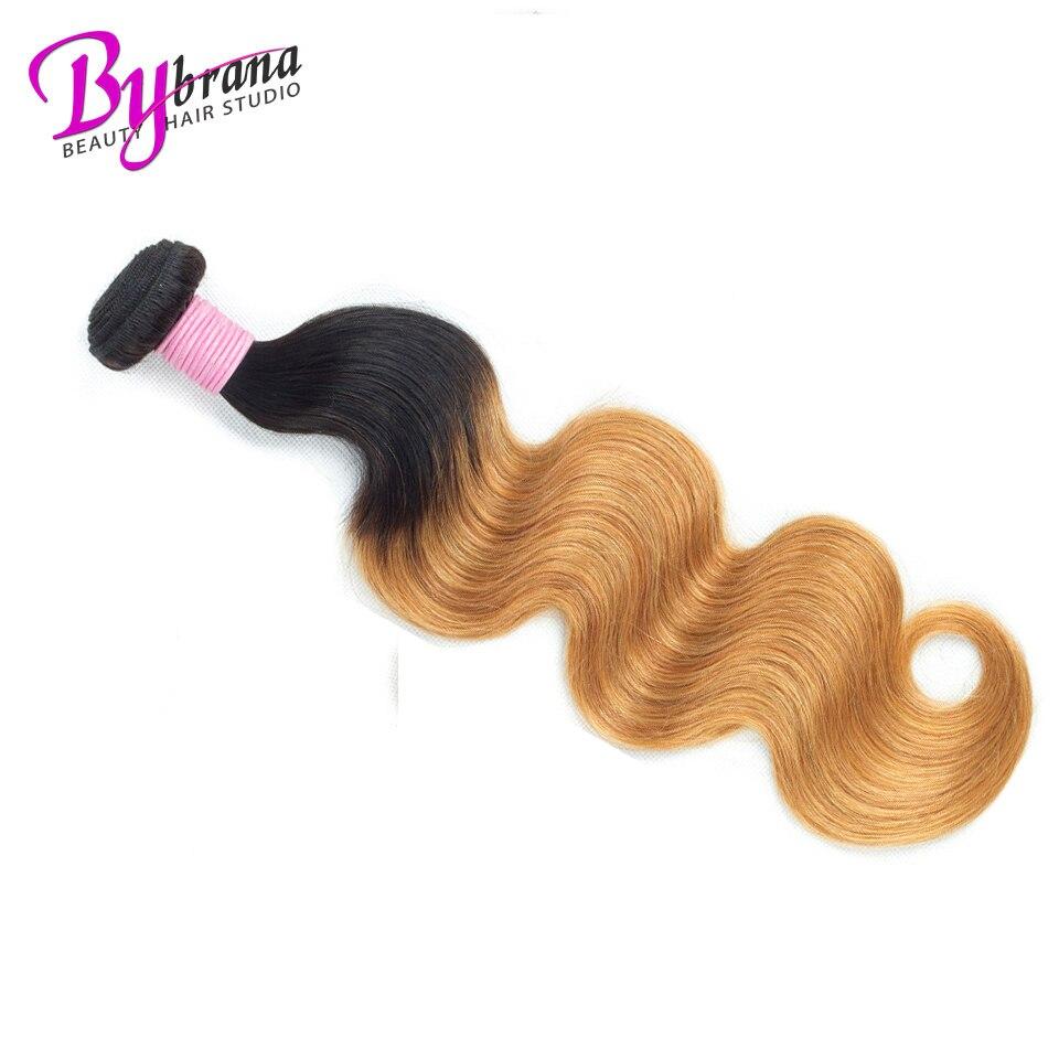 1B 27 30 Burgundy Brazilian Body Wave Remy Human Hair Body Weave Bundles One Piece Deal Bybrana