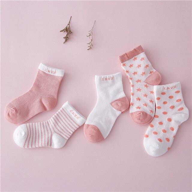 5pairs/lot free shipping kids socks 100% cotton