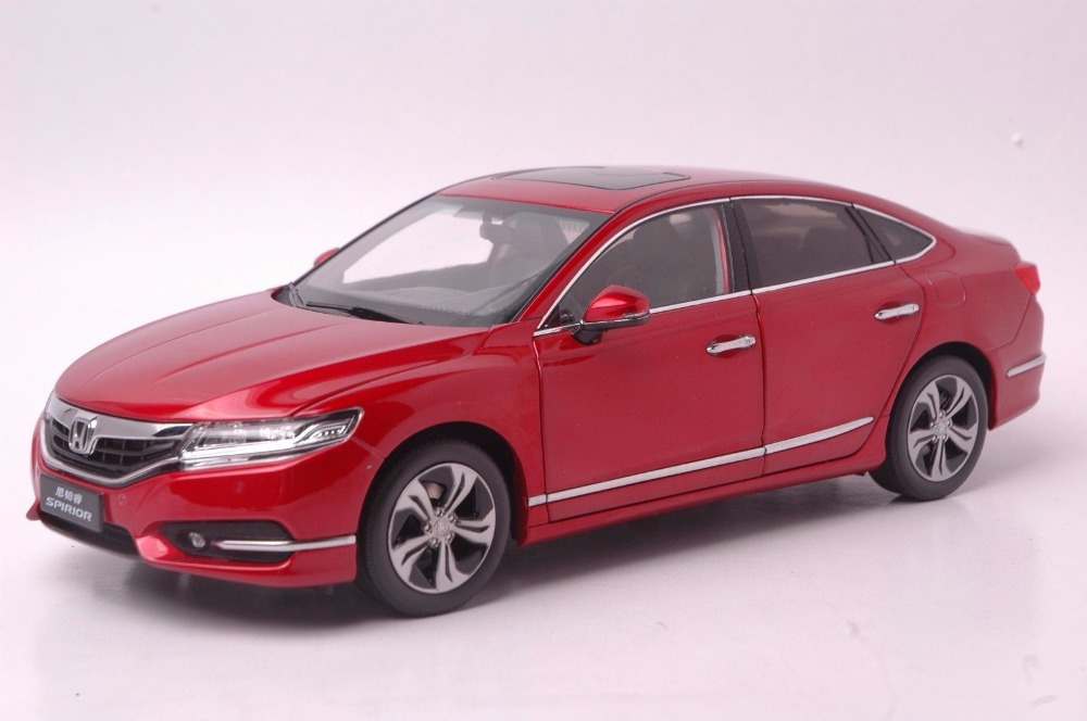 1:18 Diecast Model for Honda Spirior Accord Europe Red Sedan Alloy Toy Car Miniature Collection Gifts Van 1 18 diecast model for honda crider 2016 white sedan alloy toy car miniature collection gifts crv cr v