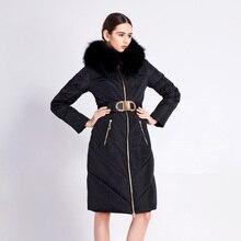 2016 Winter Jacket Women doen jackets luxury fashion raccoon fur Hood slim thicken long down coat Women's Outerwear Duck down