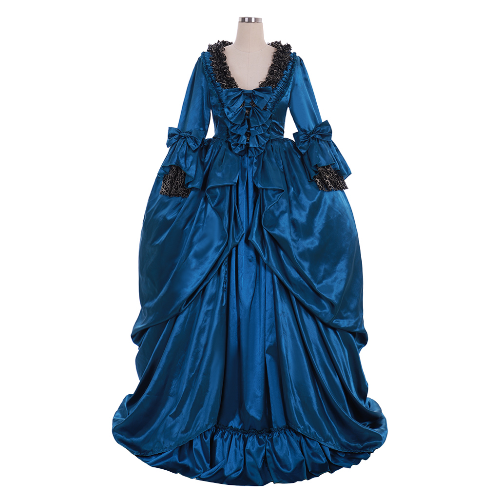 Azul vestido de Baile Vestido de Casamento
