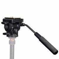 KINGJOY VT 1510 Pan Head Video Camera Tripod Action Fluid Drag for Canon Nikon Sony DSLR Camera Camcorder Shooting Filming