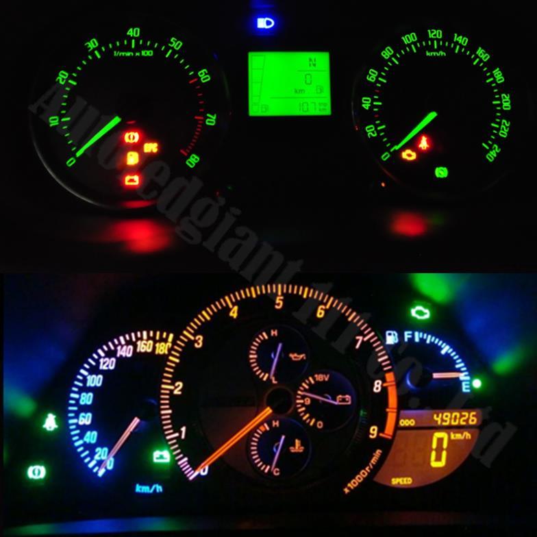 10 peas branco amarelo vermelho azul rosa verde gelo azul t5 painel faa o seu destaque do carro fandeluxe Gallery