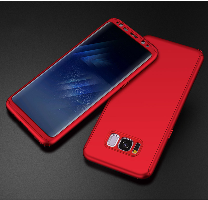 360 Degree Protection Full Body Protective Case For Samsung Galaxy Note 8 S8+ S8 Plus S7 Edge S6 Phone Bags Hard PC Cover Cases