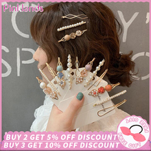 Get more info on the 3PCS Girls Pearl Hair Clip Fashion Metal Hair Clips Barrette Stick Women Bobby Hair Pins Hair Styling Accessories for Wedding