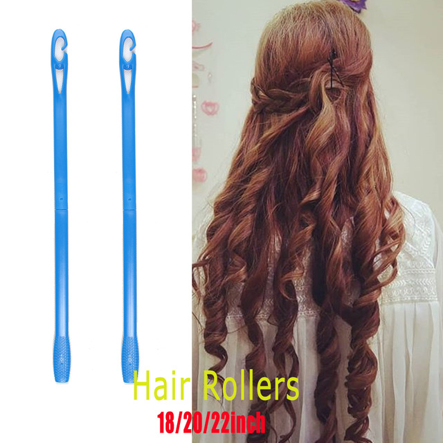 Купить с кэшбэком Foreign trade75CM3.0 cachos big krulspelden volume 18hair curlers rollers not hurt hair plastic curly hair