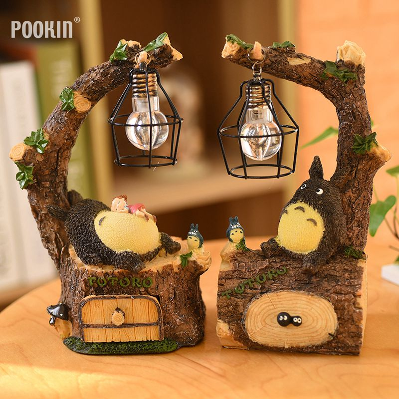 New Creative Resin Totoro Night Light LED Bedside Nightlights For Children Birthday Gift  Room Decor