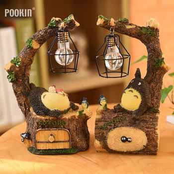 New Creative Resin Totoro Night Light LED Bedside Nightlights For Children Birthday Gift  Room Decor - DISCOUNT ITEM  22% OFF All Category