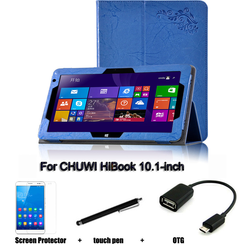 For CHUWI HiBook  protective Leather Case Protective Shell/Skin For CHUWI HiBook Tablet PC dormancy case 10.1-inch Hi10 pro chuwi hibook 2 in 1 ultrabook tablet pc