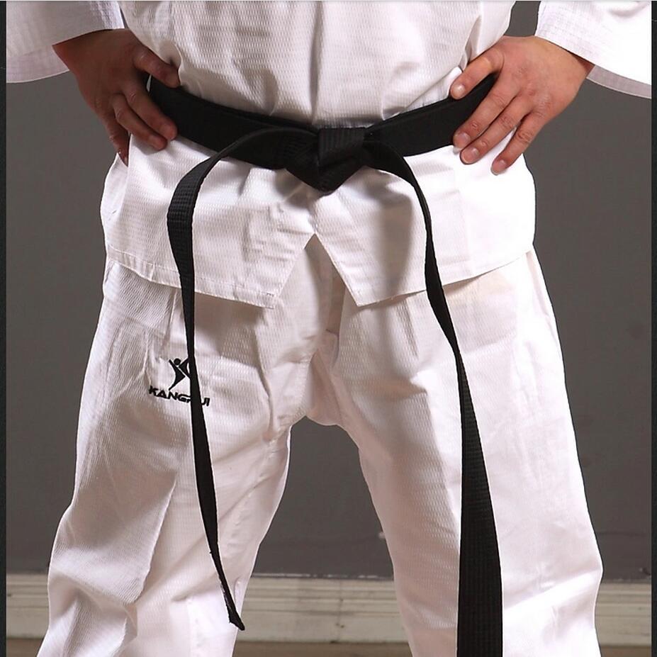 3 м хорошее качество по низкой цене хлопковые удобные тхэквондо уровень черного пояса для Мужчины Женщины Дети боевых искусств каратэ дзюдо