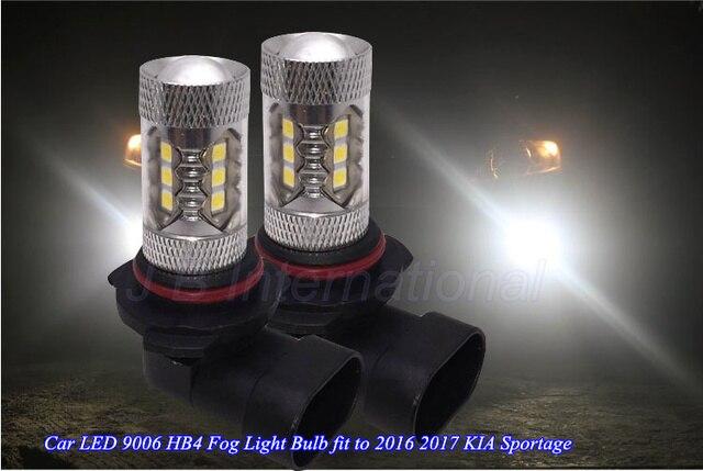 2 stks Auto Led lampen voor KIA Sportage 2016 2017, wit HB4 9006 Dag ...