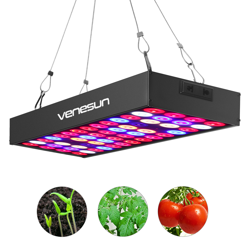 LED Grow Light Panel 36W Venesun Full Spectrum with IR & UV Plant Growing Lamps for Indoor Plants Hydroponic Greenhouse led grow light full spectrum venesun 100w panel with ir