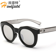 Ronda Círculo gafas de Sol Retro Vintage espejo gafas de Sol de Las Mujeres Diseñador de la Marca gafas Mujeres Oculos gafas De Sol Mujer fresca