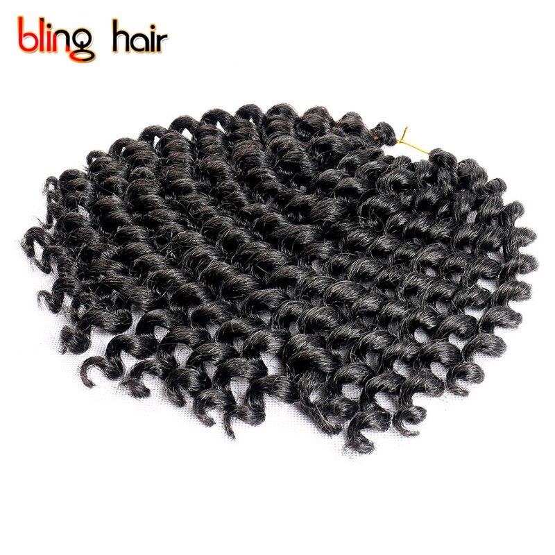 Bling волос Синтетический отказов твист крючком Наращивание волос плетением для палочка Curl Косы Kanekalon поворот косу волосы