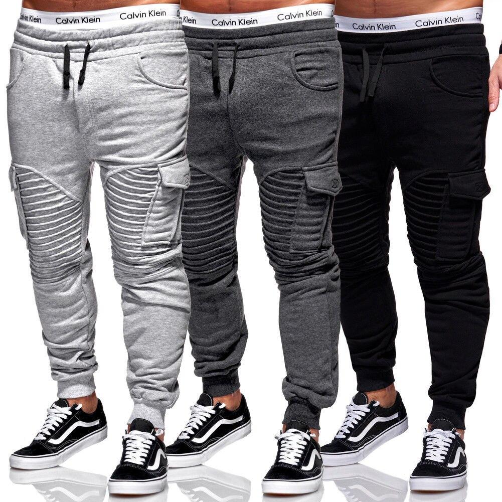 de fitness muitos multi-bolso calças casuais