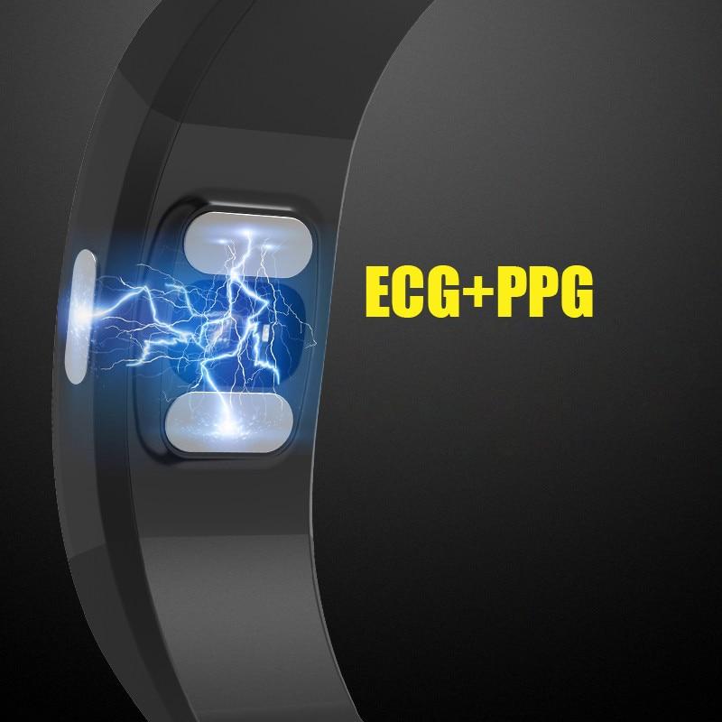Bracelet intelligent Ip67 Ecg Ppg moniteur de fréquence cardiaque de pression artérielle traqueur de forme physique podomètre sport Bracelet intelligent pour Android Ios - 6