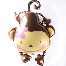 1pcs 96.5*82cm Grote-mouthed monkey ballon Aluminium ballon kid verjaardag party decor benodigdheden baby shower kind speelgoed vormige ballon(China)